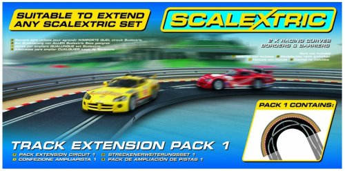 Scalextric C8510 1:32 Scale Track Extension Pack 1 - Racing Curve Sport Building and Sport Track Accessory