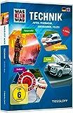 DVD Cover 'Was ist Was: Technik - Autos, Feuerwehr, Eisenbahnen, Polizei [4 DVDs]