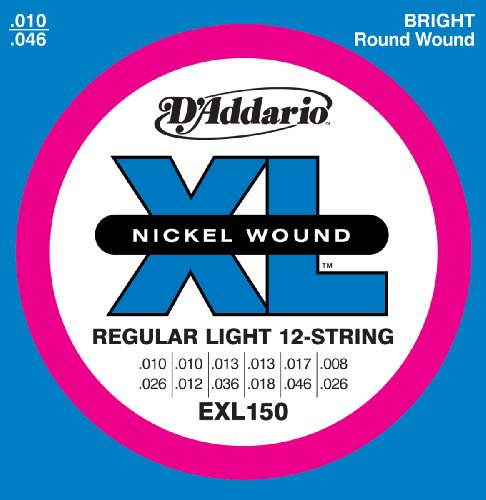 D'Addario EXL150 Regular Light 12-String Electric
