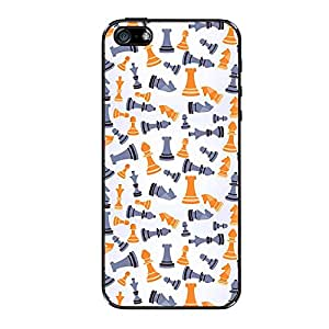 Vibhar printed case back cover for Apple iPhone 5c ChessGrey