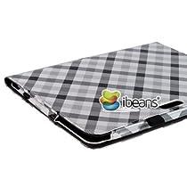 i-Beans(TM) お買い得3点セット Google第2世代 新型Nexus 7 2013年度版 合成皮革レザーケース オートスリープ機能(自動ON/OFF) オシャレなチェック柄 スタンド仕様 新型 nexus 7 カバー カード入れ+ペン挿し付き PU Leather Case for The New Nexus 7 高品質液晶保護フィルム+タッチペン(両用タイプ)付(5618-1)