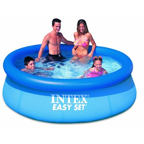 intex 8 39 x 30 easy set inflatable swimming. Black Bedroom Furniture Sets. Home Design Ideas