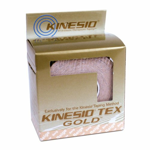 "Kinesio Tex Tape - Water Resistant Beige, 2"" x 5.5 yd. Single Roll for Kinesio Taping"
