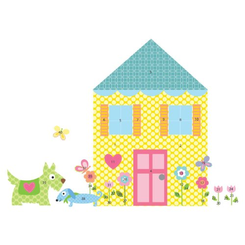 RoomMates RMK1438SLM Build A House Peel & Stick Wall Decal MegaPack