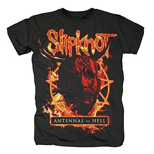 SLIPKNOT - ANTENNAS TO HELL - OFFICIAL MENS T SHIRT - cotone, Nero, 100% cotone, Uomo, Medium