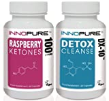 Pure Raspberry Ketones & DX-10 Detox Cleanse Pack | 1 Month Supply | INTRO OFFER