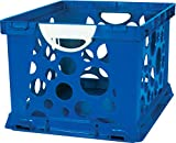 Storex 2-Color Large Crate with Handles, Blue/White