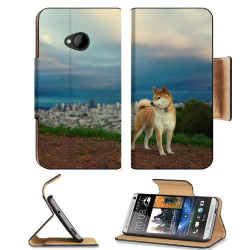 Akita Inu Hill Dog Nature Htc One M7 Flip Cover Case With Card Holder Customized Made To Order Support Ready Premium Deluxe Pu Leather 5 11/16 Inch (145Mm) X 2 15/16 Inch (75Mm) X 9/16 Inch (14Mm) Liil Htc One Professional Cases Accessories Open Camera He