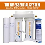 Inside Mount RV ESSENTIAL SYSTEM - Premium RV Water Filtration System with Cyst Removal …