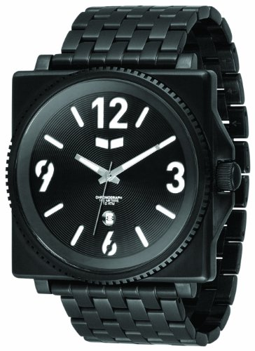 Vestal Men's QDM001 Quadra Metal Black Ion-Plated 7-Link Bracelet Watch