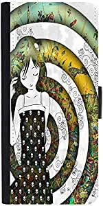 Snoogg Girl On A Coloful Pattern 2779 Designer Protective Flip Case Cover For...
