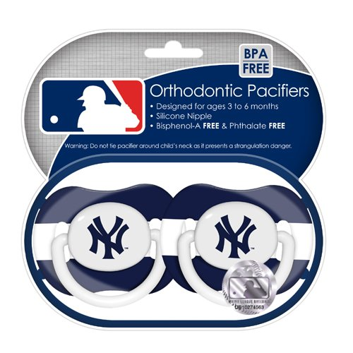 Mlb New York Yankees Pacifiers, 2-Pack front-998223