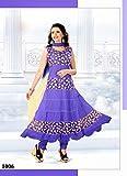 FABBOOM Purple Designer Anarkali Suits