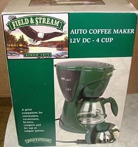 Amazon.com : Field & Stream 12V DC 4 Cup Portable Coffee Maker : Camping Coffee And Tea Pots ...