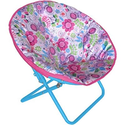 American Kids Printed Faux-Fur Saucer Chair - Floral