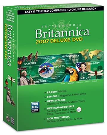 Encyclopedia Britannica Deluxe 2007 DVD-Rom (Win/Mac)