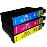 1x :T1282 T1283 T1284 Compatible Ink Cartridges to replace Epson SX130 - ALSO COMPATIBLE WITH Printers Epson Stylus Office BX305F, BX305FW Plus, Epson Stylus S22, SX125, SX130, SX235W, SX420W, SX425W, SX435W, SX445W - Latest Version Double Capacity Inks