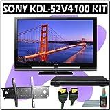 Sony Bravia V-Series KDL-52V4100 52-inch 1080P LCD HDTV + Sony DVD Player w/ Wall Mount Accessory Ki