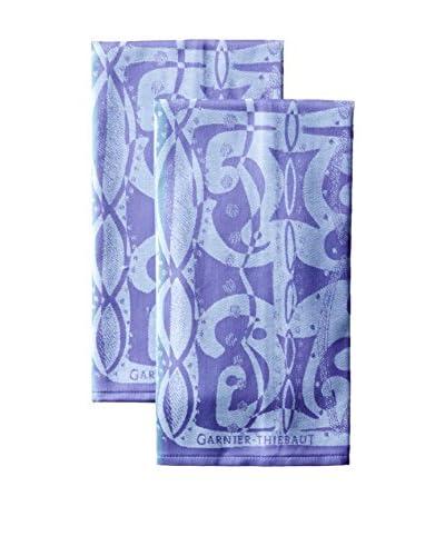 Garnier-Thiebaut Set of 2 Indian Soul Kitchen Towels, Ocean