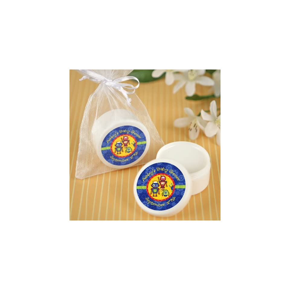 Robots   Personalized Lip Balm Baby Shower Favors Toys & Games