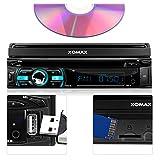 XOMAX-XM-DTSB925-Autoradio-Moniceiver-Bluetooth-Freisprecheinrichtung-Musikwiedergabe-18cm-7-HD-Touchscreen-Display-Audio-Video-MP3-inkl-ID3-TAG-WMA-MPEG4-AVI-DIVX-etc-Beleuchtugsfarbe-frei-einstellba