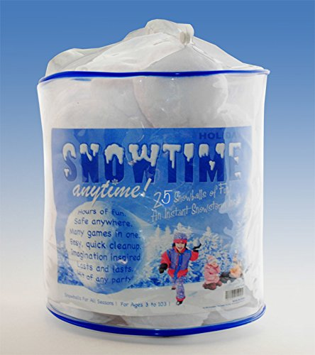 Why Should You Buy Indoor Snowball Fight - Snowtime Anytime 25 Snowball Pack - Includes Storage Buck...