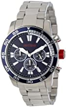 red line Men's RL-60007 Cruiser Chronograph Dark Blue Dial Stainless Steel Watch