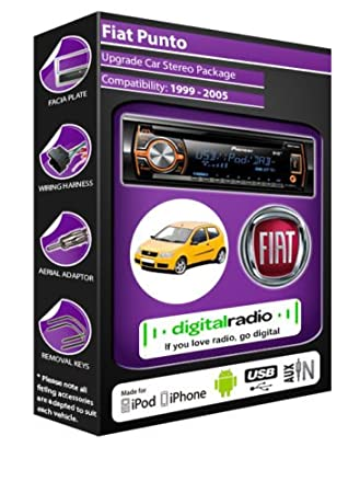 Fiat Punto Radio Dab autoradio Pioneer-Deh - 4700Dab avec antenne Radio Dab