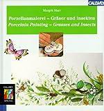 Porzellanmalerei, Gräser und Insekten