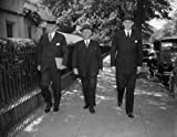 1937 photo Big three on U.S. Foreign relations. Washington, D.C., Oct. 8. President Roosevelt's first act on his return to the Capital today was to call his Chief Foreign Relations advisors into a conference for a discussion of the International Situation Vintage Black & White Photograph