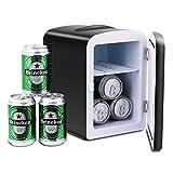 Pathfinder Portable Car Refrigerator Mini Fridge Cooler&Warmer 4 L/6 Cans, 110V&12V Power for Home, Office and Car