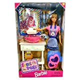 Mattel Year 1998 Barbie 12 Inch Tall Doll Set - SWEET TREATS With Barbie Doll In Kitchen Outfit Plus