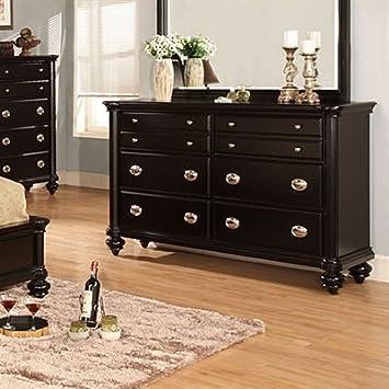 Laguna Hills Solid Wood Black Finish Bedroom Dresser