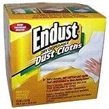 Endust END522000 Dust Cleaner Cloth White 10/Box, White