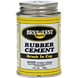 "Best-Test Quality Rubber Cement ""Brush-In-Cap""-4oz/Metal Container"