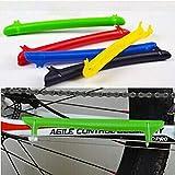 creatYspace Bicycle Protective Gear Bike Chain Frame Protective Sleeve MTB Mountain Bike Folding Bike Practical Accessories (Color: white)