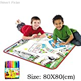 Smart Picks 80 X 80cm Dinosaur World Washable Colouring Mat With Colour Pens. ( Kids Educational Drawing And Colouring...