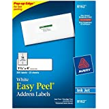 Avery Easy Peel White Inkjet Mailing Labels (AVE8162)