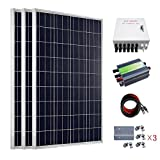 ECO-WORTHY 300 Watts Solar RV Boat Kit Off Grid: 3pcs 1000W Polycrystalline Solar Panel + 30A PWM Charge Controller + Solar Cable Adapter + Combiner Box + Z Mounting Brackets (Color: w/ Combiner Box, Tamaño: 300W)