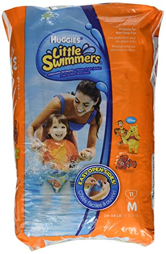 Huggies Little Swimmers Disposable Swim Diapers Medium Pk of 11 diapers (Characters may very)