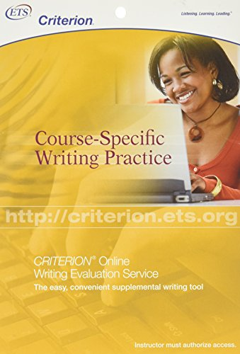 criterion online writing evaluation service The criterion online writing evaluation service from ets is a web-based learning tool it provides teachers and instructors with a way to help english-language students improve their writing skills.