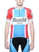 Bianchi Milano Maillot Ciclismo Popun (Azul / Blanco / Rojo)