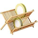 zeller 25341 tellerabtropfst nder 42 x 34 x 25 cm bamboo. Black Bedroom Furniture Sets. Home Design Ideas