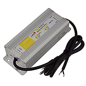 LEDwholesalers Waterproof LED Driver Transformer 60 Watt 12V with 3-prong Plug, 3204