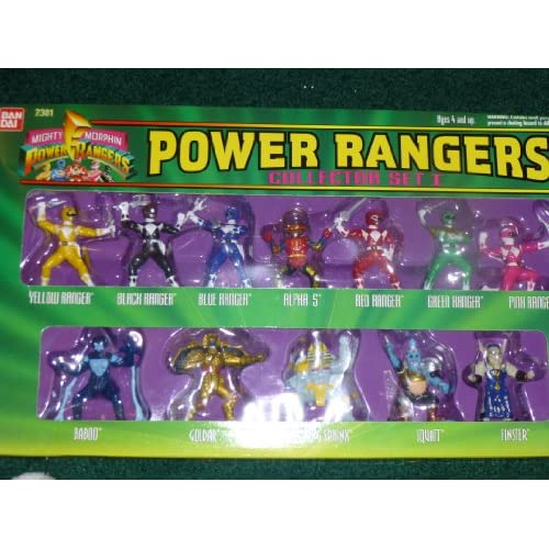 Amazon.com: Mighty Morphin Power Rangers Collector Set I - 12 Piece