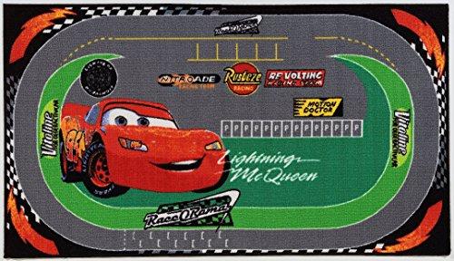 Disney Action Line Cars Tappeto, Materiale Sintetico, Multicolore, 133 x 190 x 1.77 cm