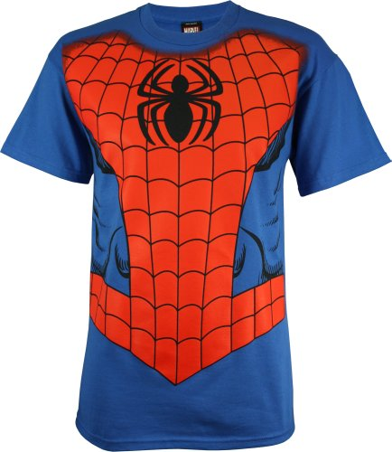 Spider-Man Men's Costume T-Shirt (XX-Large/Royal Blue)