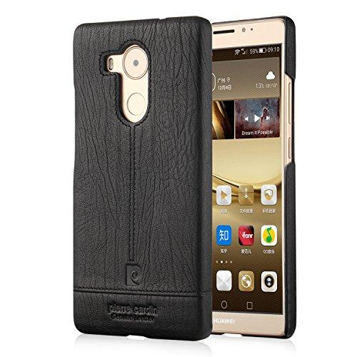 Huawei Mate 8 Custodia , Pierre Cardin Custodia rigida con copertina nera sottile Premium di Lusso in autentica Case Cover Per Huawei Mate 8