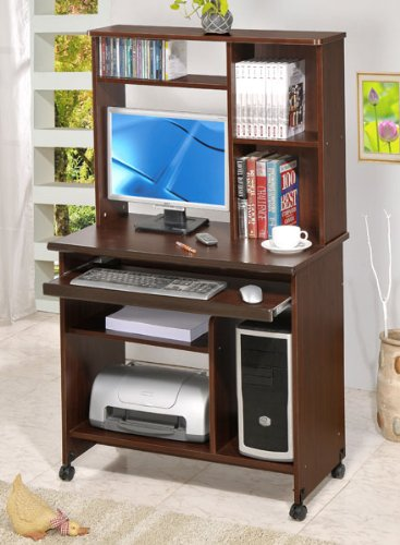 Buy Low Price Comfortable Beautiful Computer Desk in Walnut Finish #PD F41247 (B004HGX1XG)