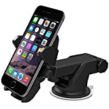 iOttie Easy One Touch 2 Car Mount Holder for iPhone 6 (4.7)/Plus (5.5) /5s/5c, Samsung Galaxy S5/S4/S3/Note 4/3, Google Nexus 5/4, LG G3 - Retail Packaging - Black